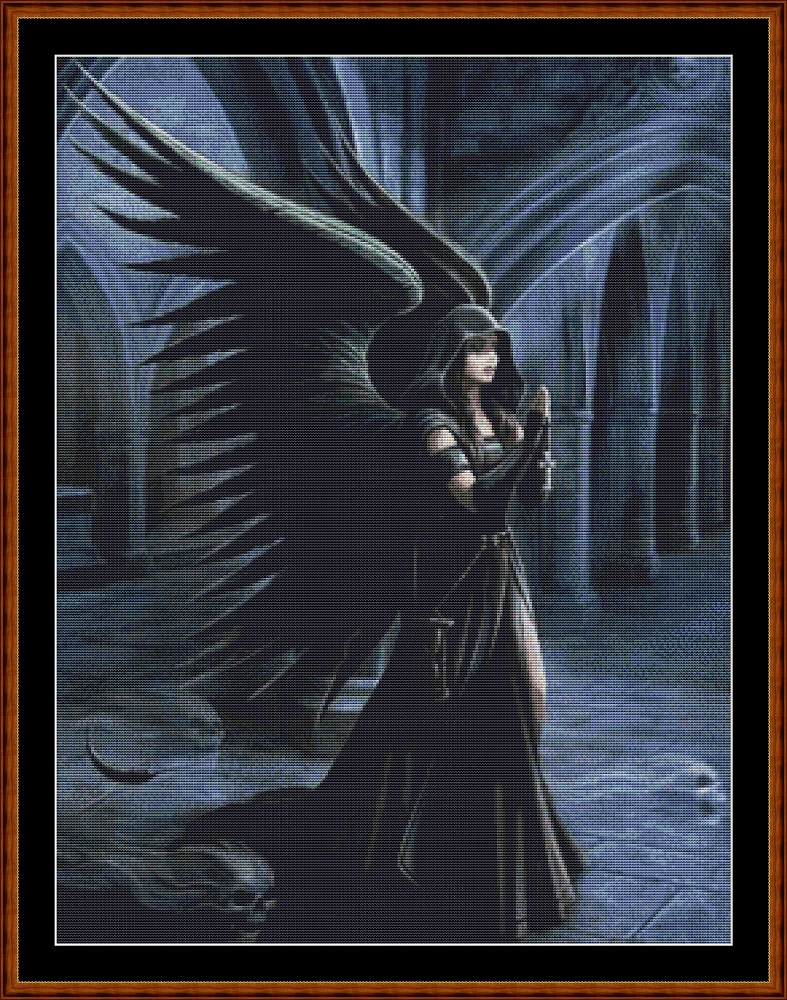 Dark Angel (SMALL) Cross Stitch
