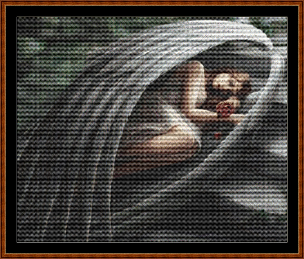 Sleeping Angel (SMALL) Cross Stitch