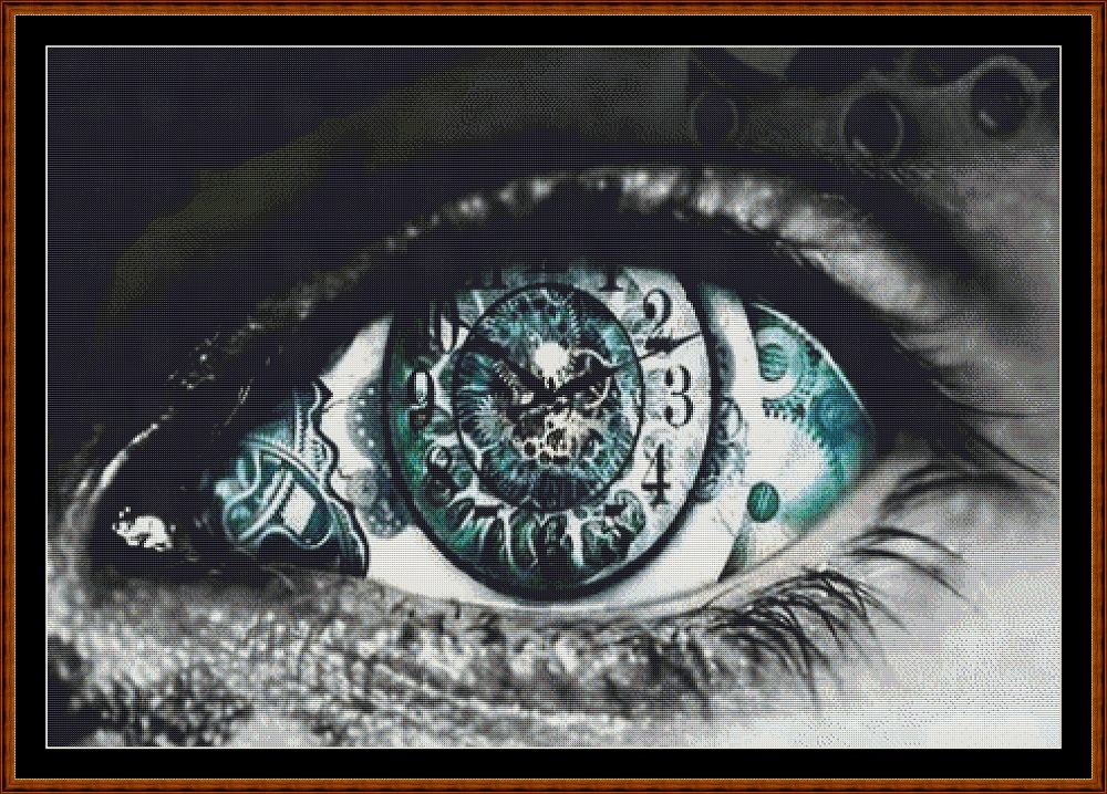 Time's Eye Cross Stitch