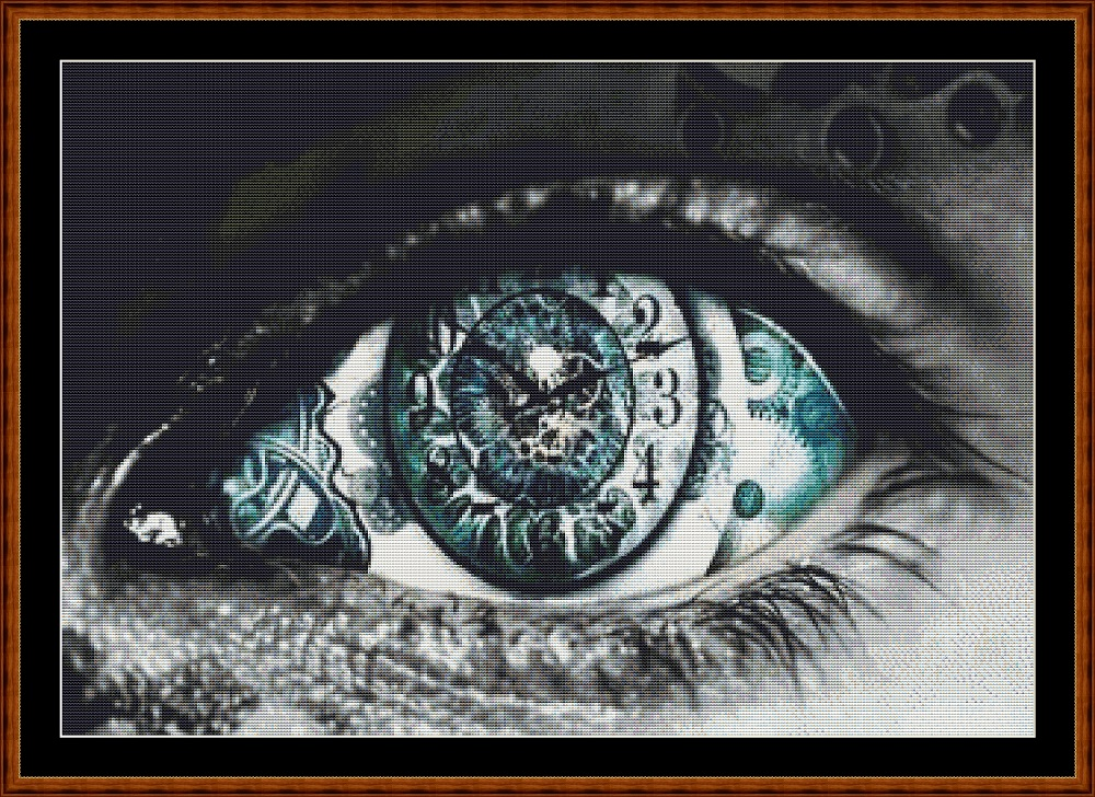 Time's Eye (SMALL) Cross Stitch