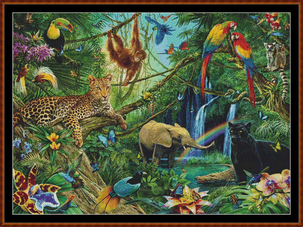Jungle Friends Cross Stitch