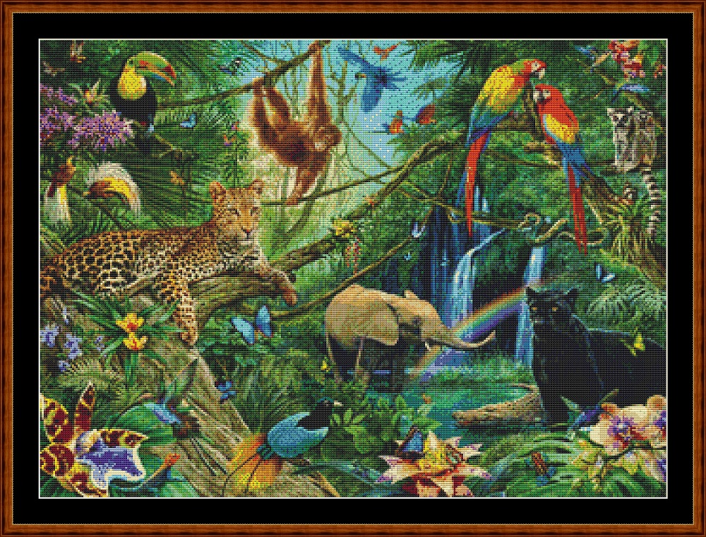 Jungle Friends (SMALL) Cross Stitch