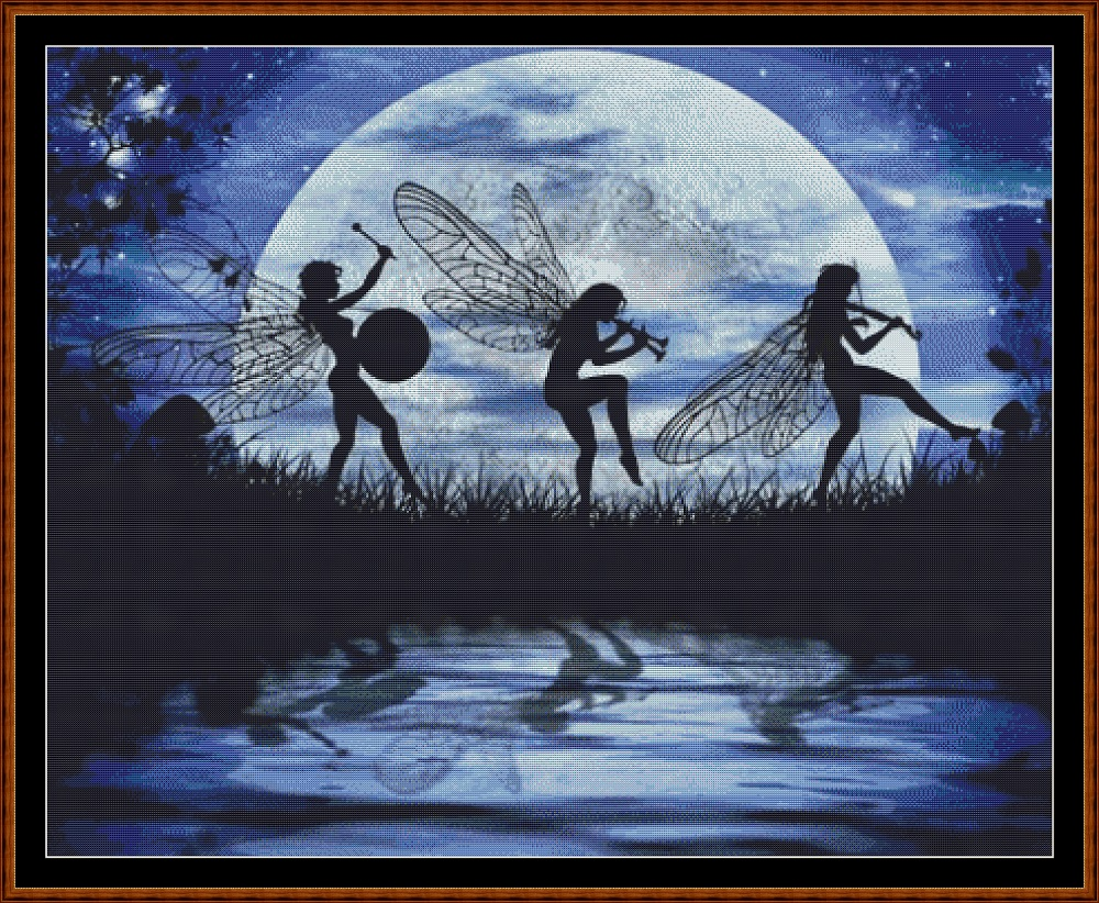Fairy Moon Dance Cross Stitch