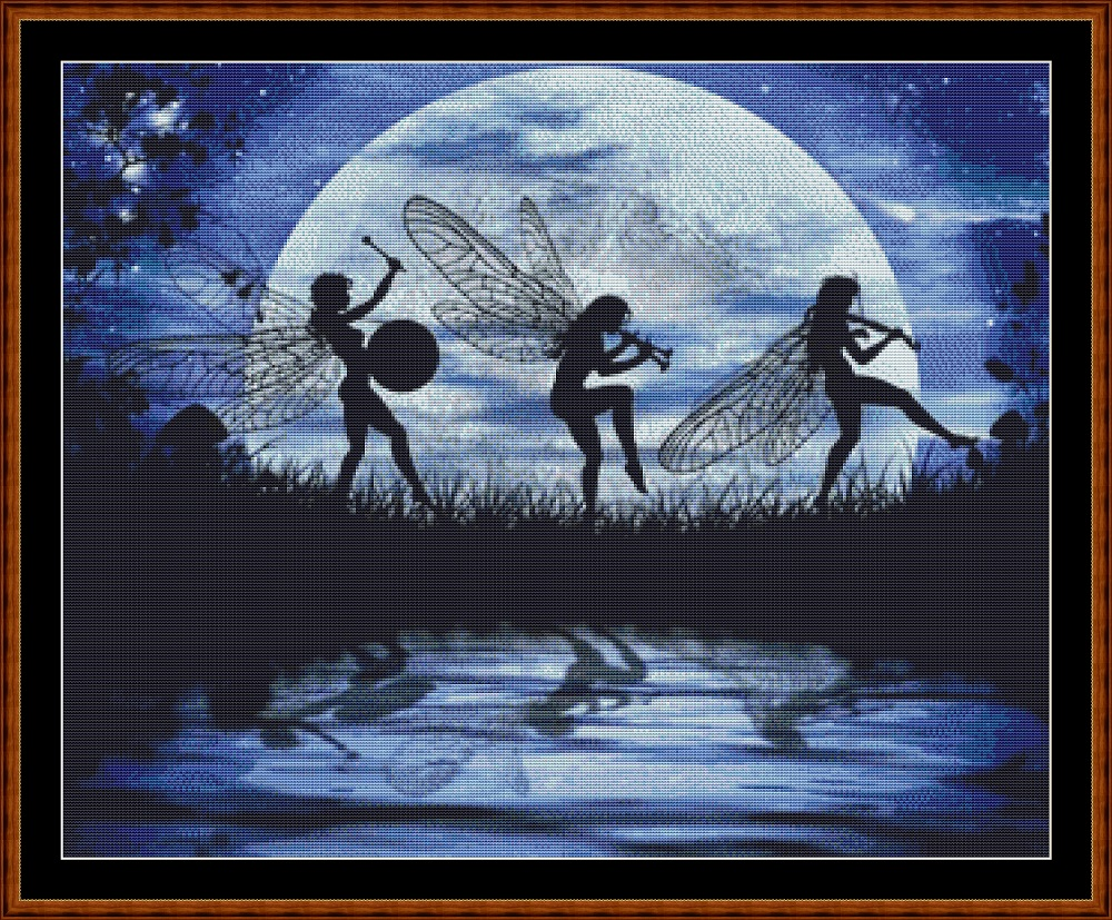 Fairy Moon Dance (SMALL) Cross Stitch