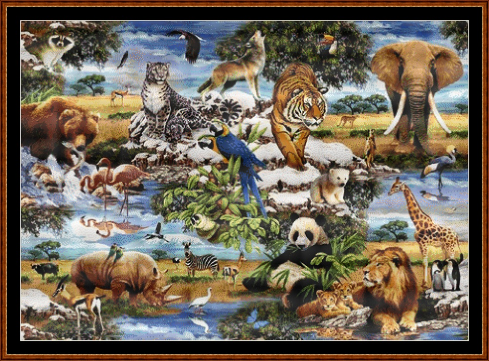 Animal Kingdom Cross Stitch