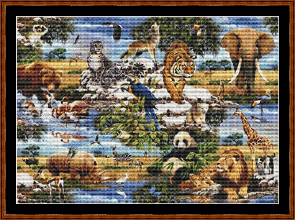 Animal Kingdom (SMALL) Cross Stitch