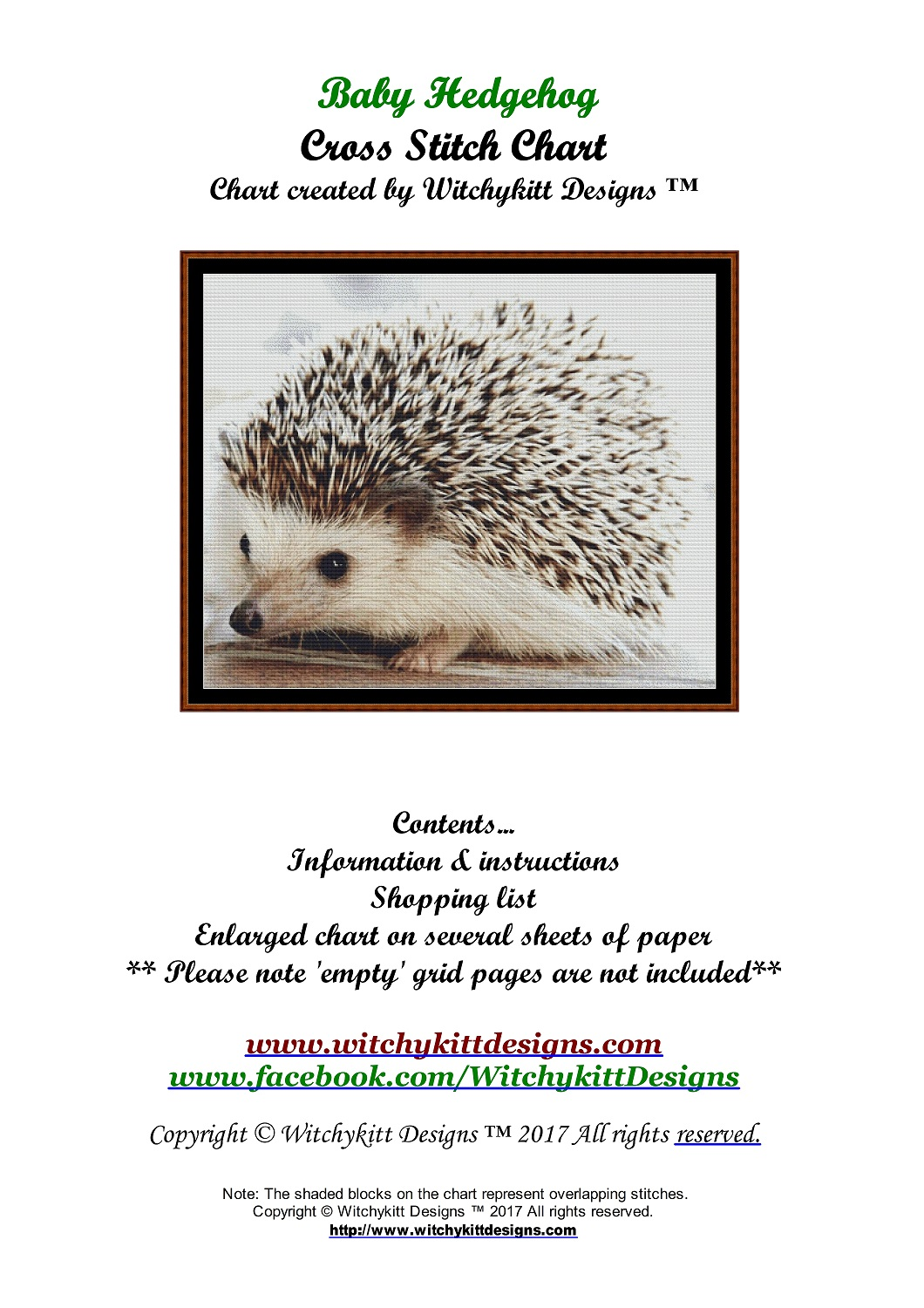 Baby Hedgehog Cross Stitch