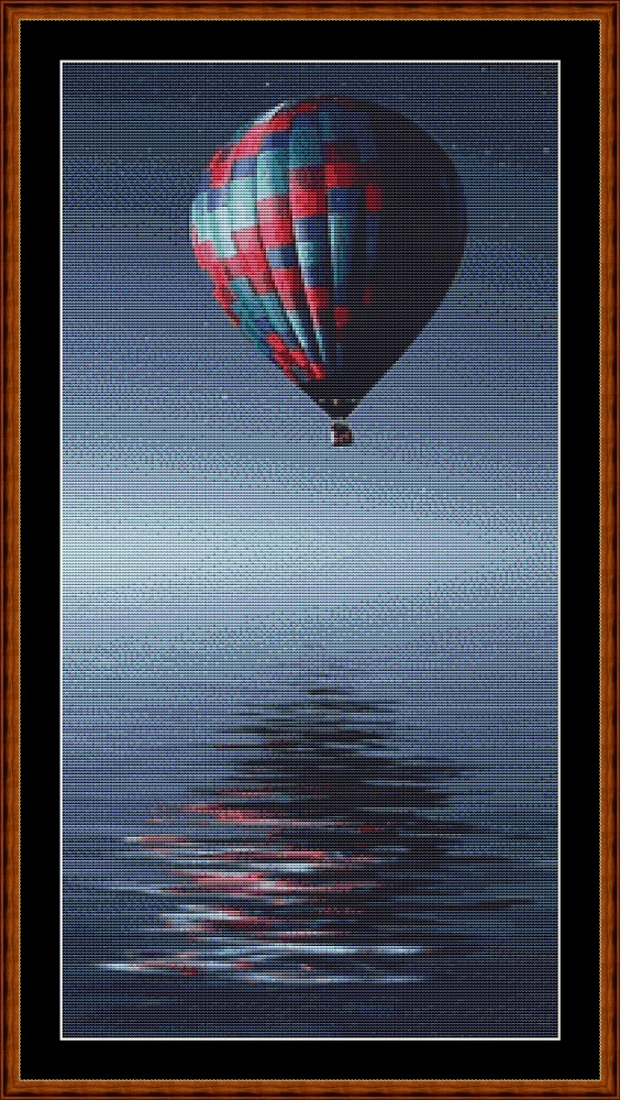 Ballooning (SMALL) Cross Stitch