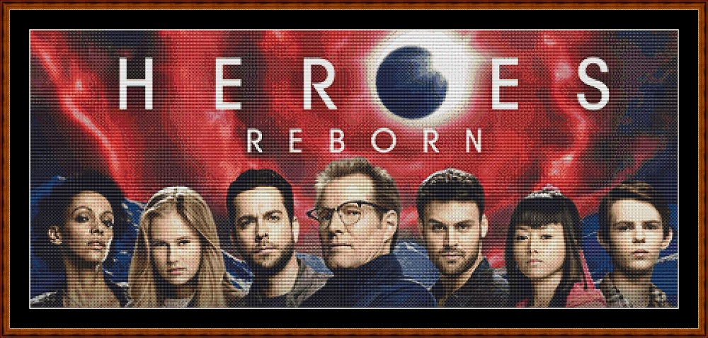 Heroes Reborn Cross Stitch