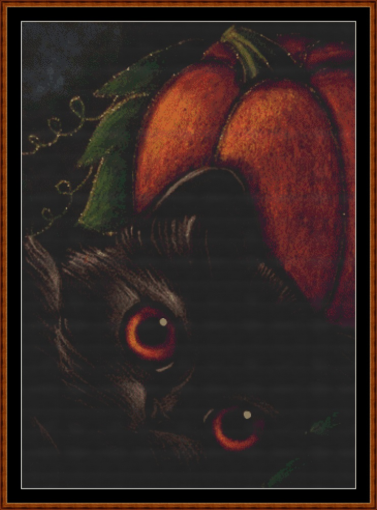 Samhain Cat Cross Stitch