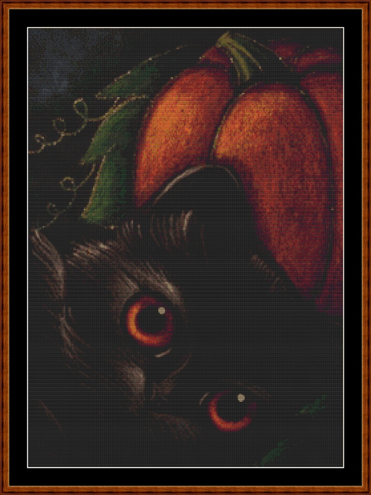 Samhain Cat (SMALL) Cross Stitch