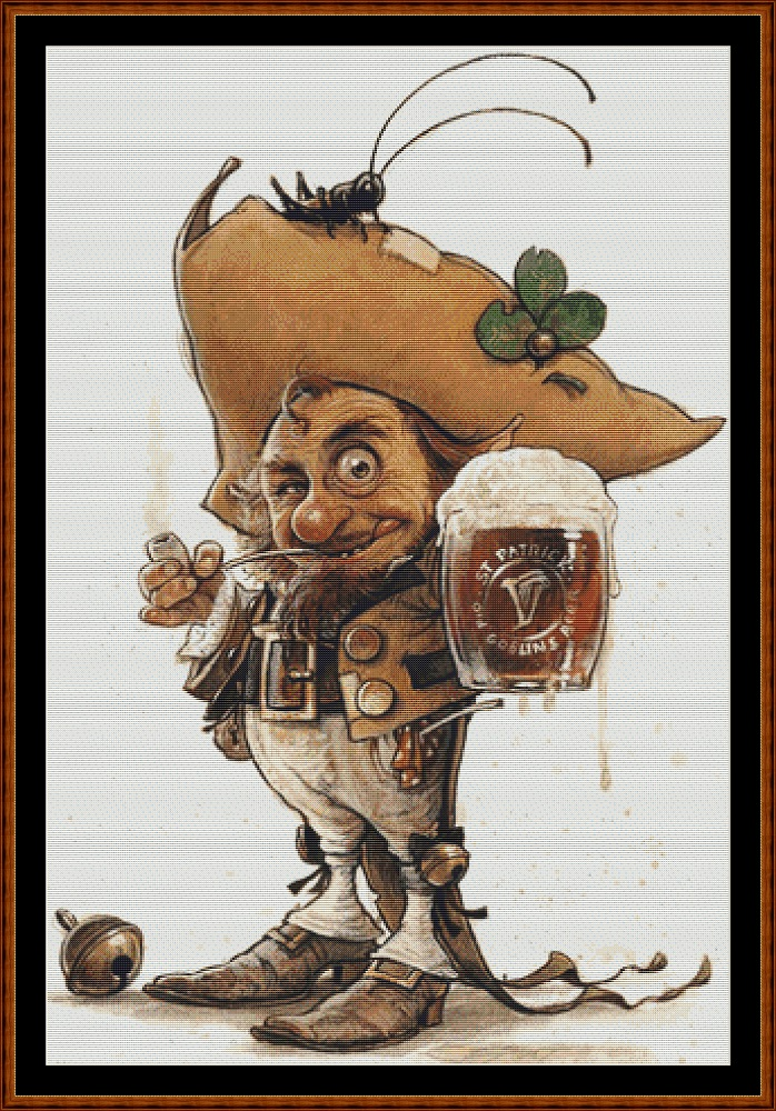 Goblin Beer Cross Stitch