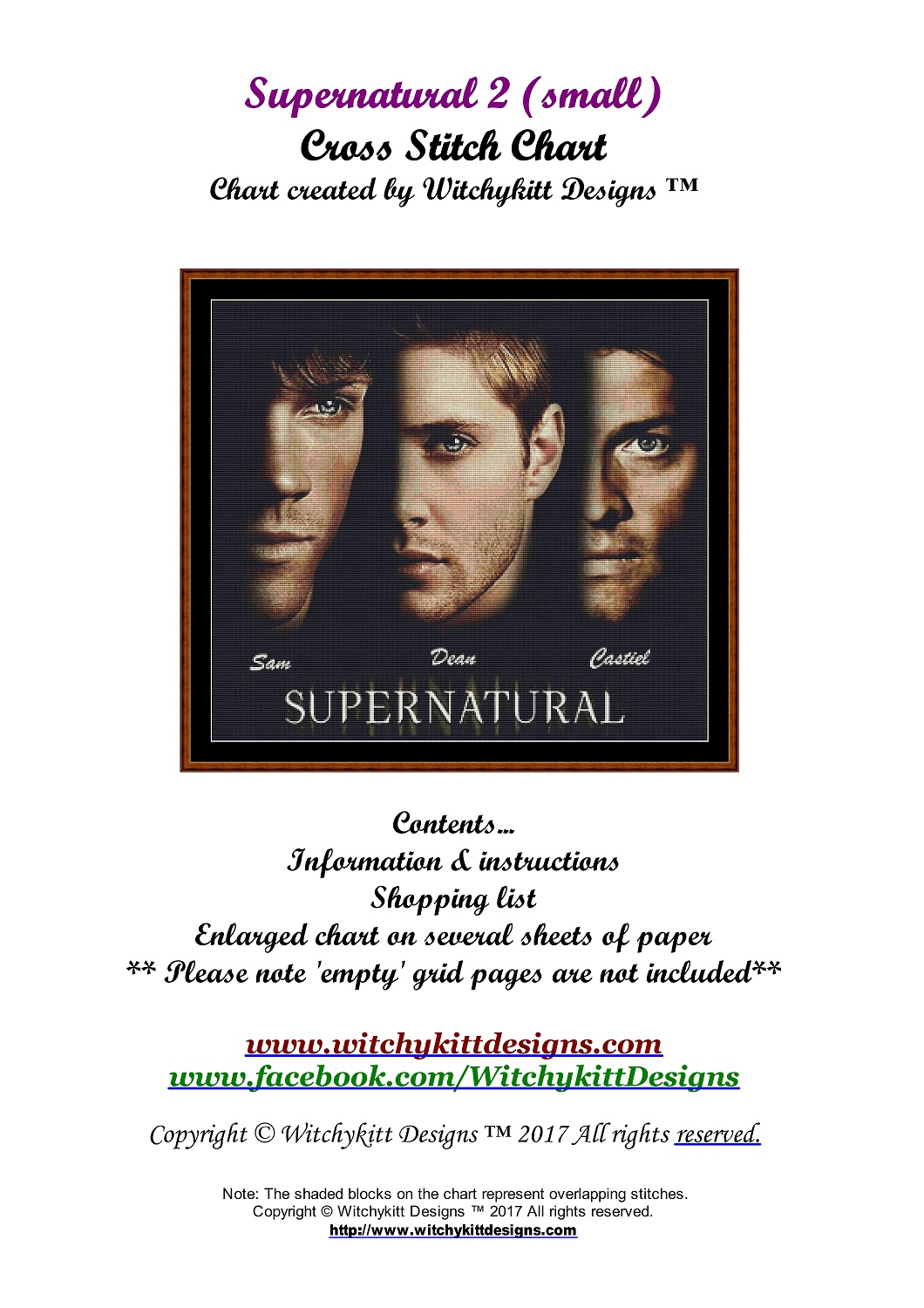 Supernatural 2 (SMALL) Cross Stitch - Click Image to Close