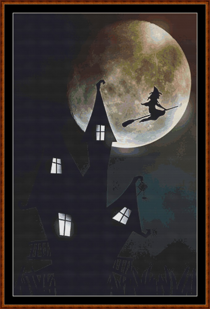 Night Flight Cross Stitch