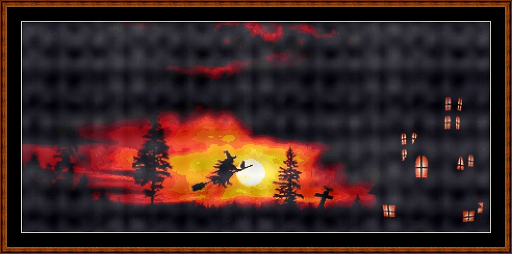 Sunset Flight Cross Stitch