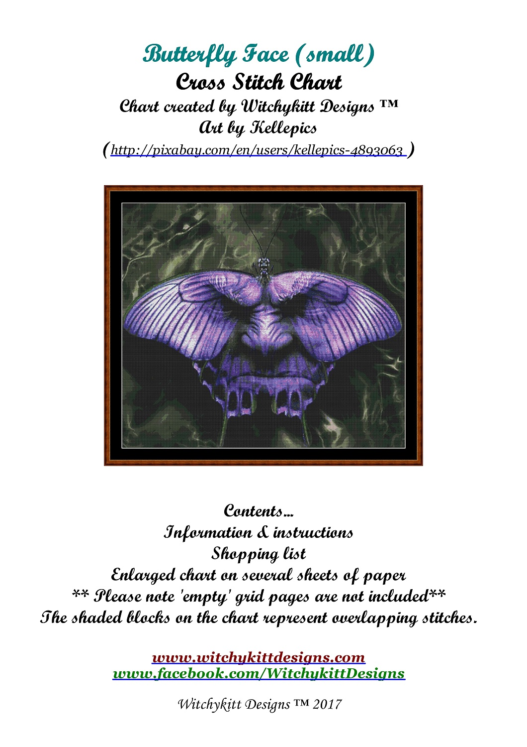 Butterfly Face Cross Stitch