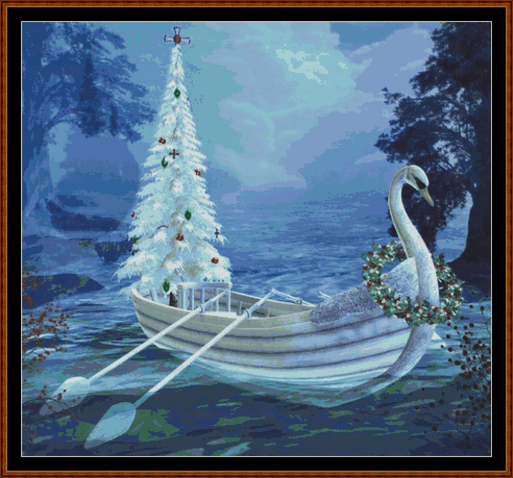 Swan Ride Cross Stitch