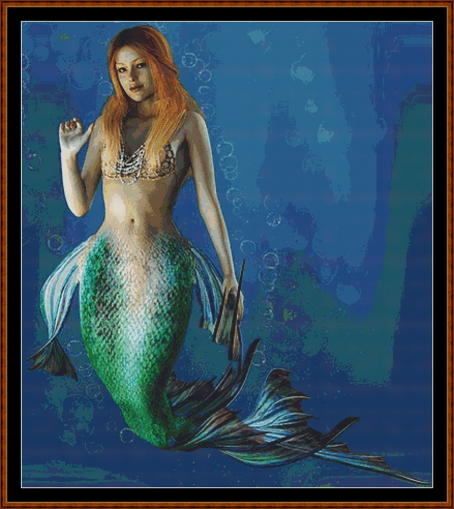 Mermaid Portrait Cross Stitch