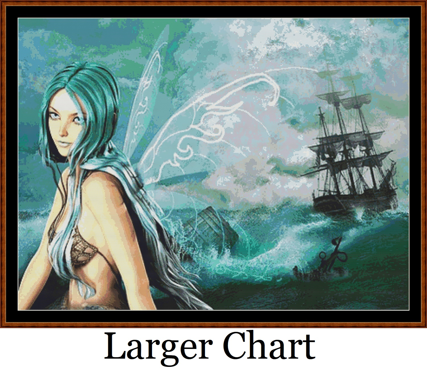 Sea Fairy Cross Stitch