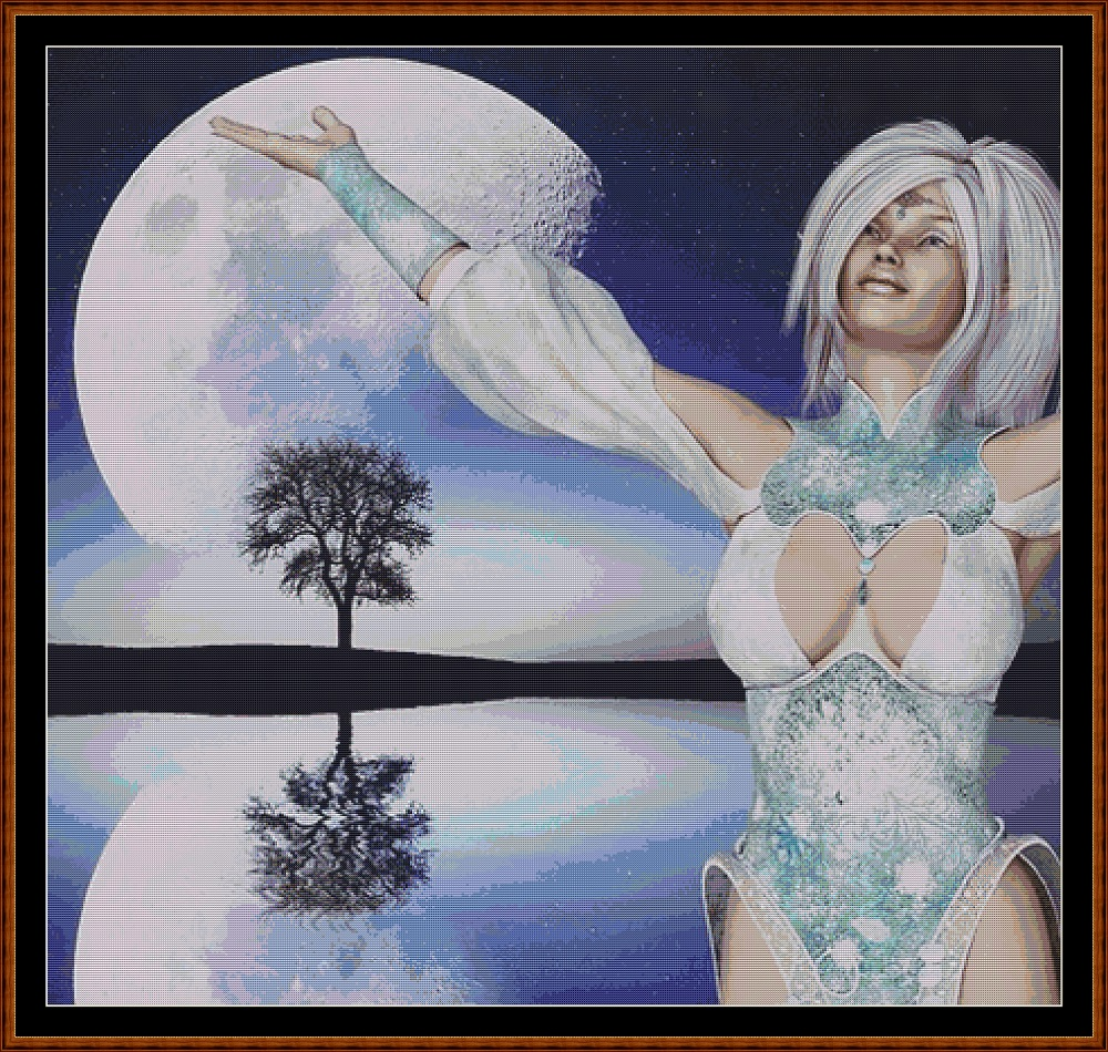 Moon Dancer Cross Stitch