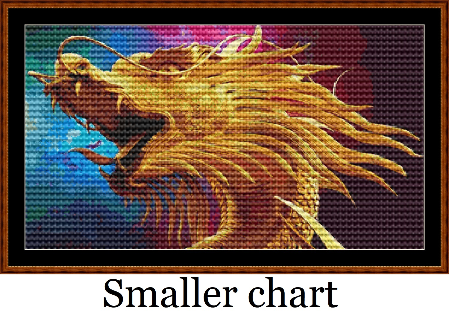 Dragon Head Cross Stitch
