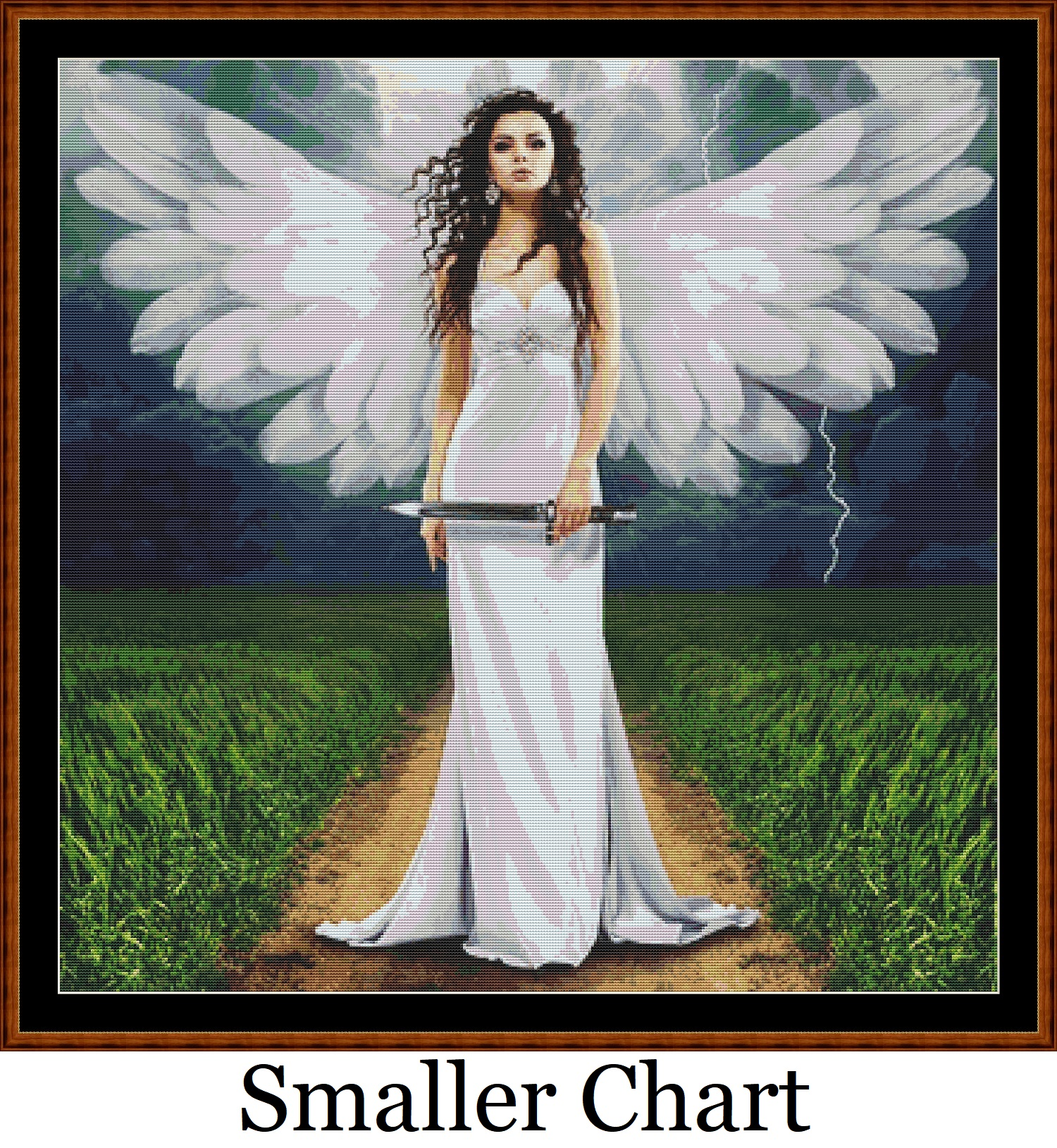 White Fairy Cross Stitch