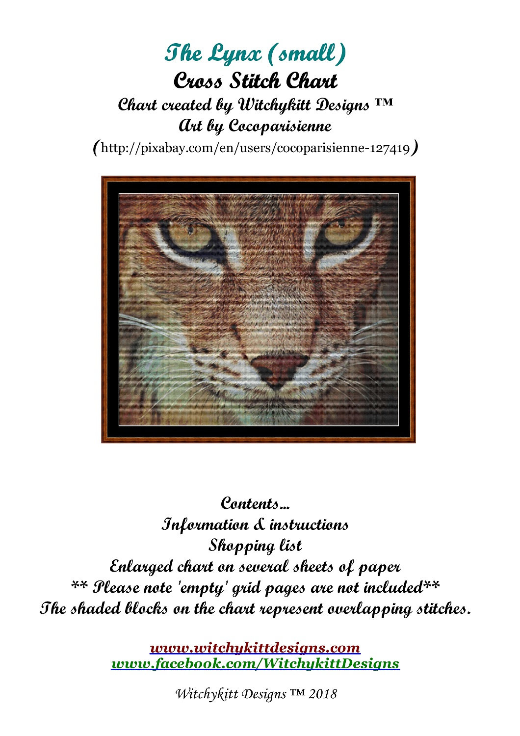 The Lynx Cross Stitch - Click Image to Close