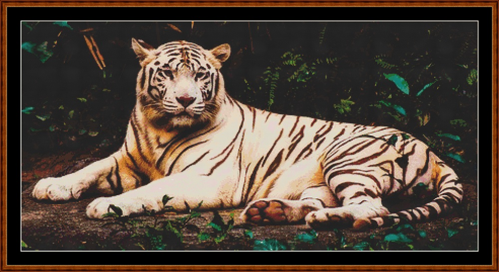 White Tiger Cross Stitch