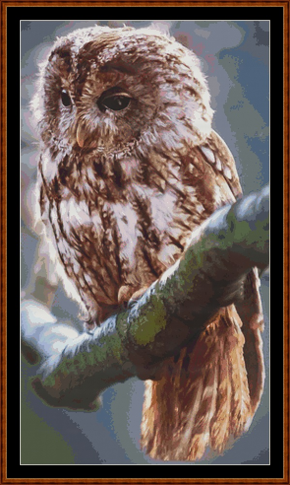 Owl Perch Cross Stitch