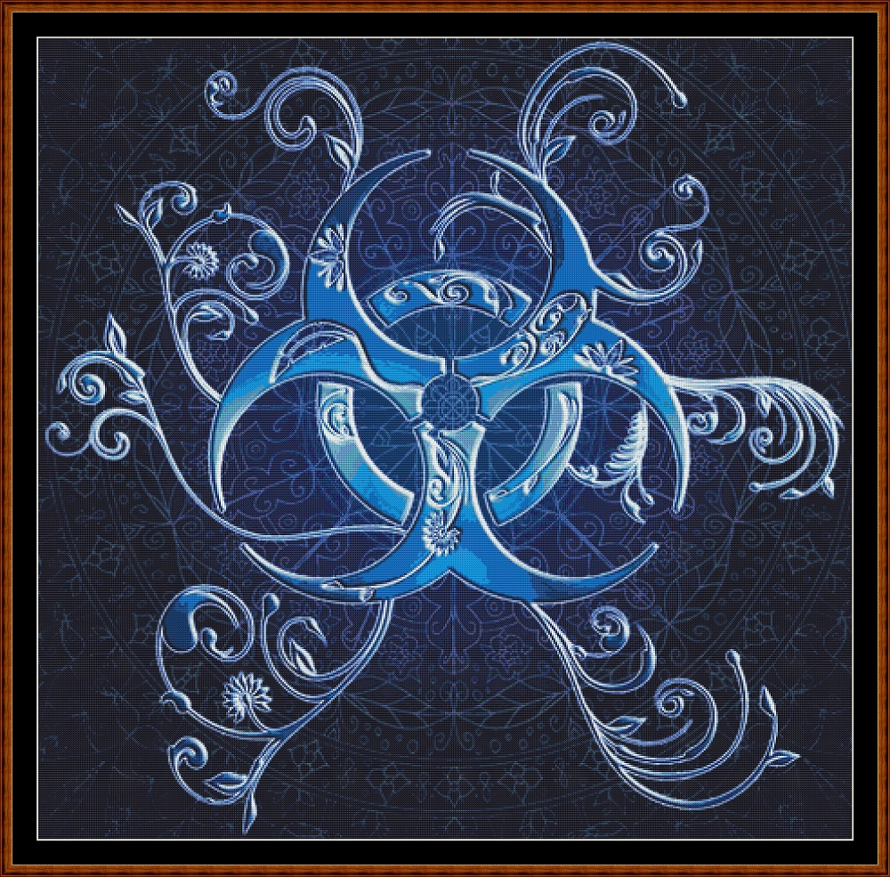 Blue Sigil Cross Stitch