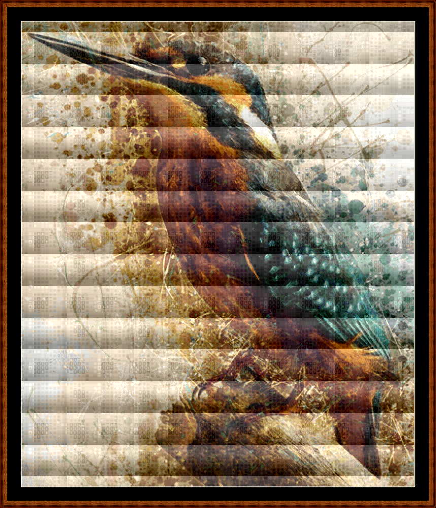 Spirit Kingfisher Cross Stitch
