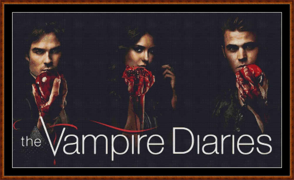 Vampire Diaries Cross Stitch