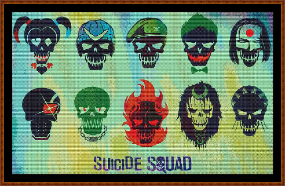 Suicide Squad 3 Cross Stitch