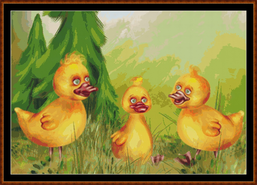 Chatty Chicks Cross Stitch