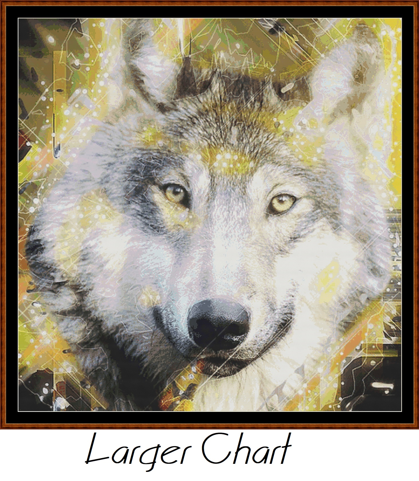 Spirit Wolf Cross Stitch