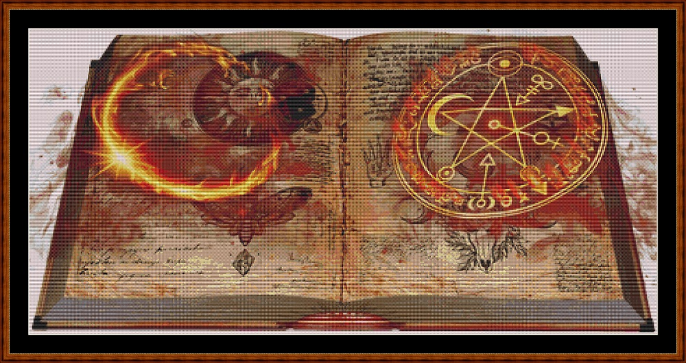 Mystical Grimoire Cross Stitch