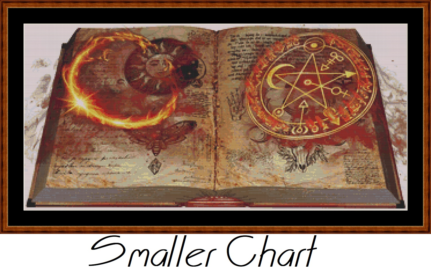 Mystical Grimoire Cross Stitch - Click Image to Close
