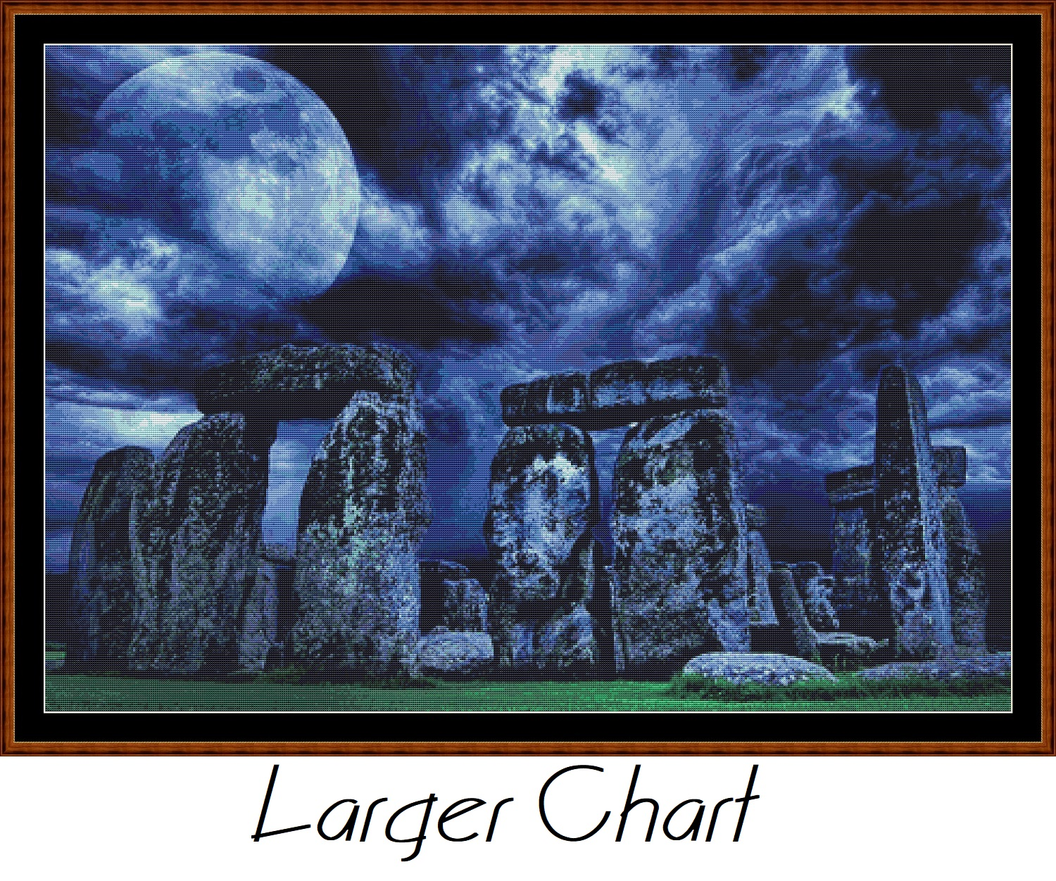 Moonlit Stones Cross Stitch