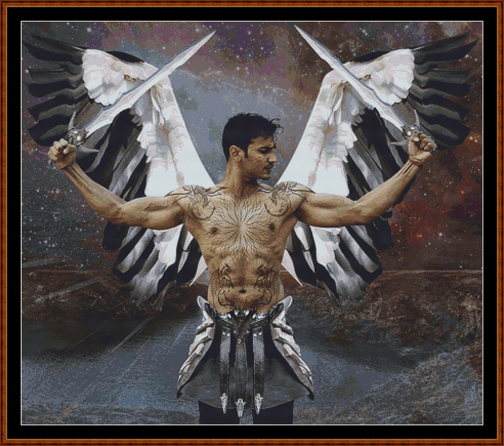 Warrior Angel Cross Stitch