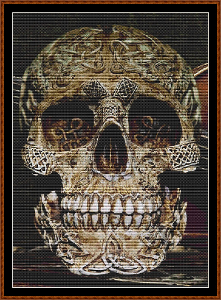 Celtic Skull Cross Stitch