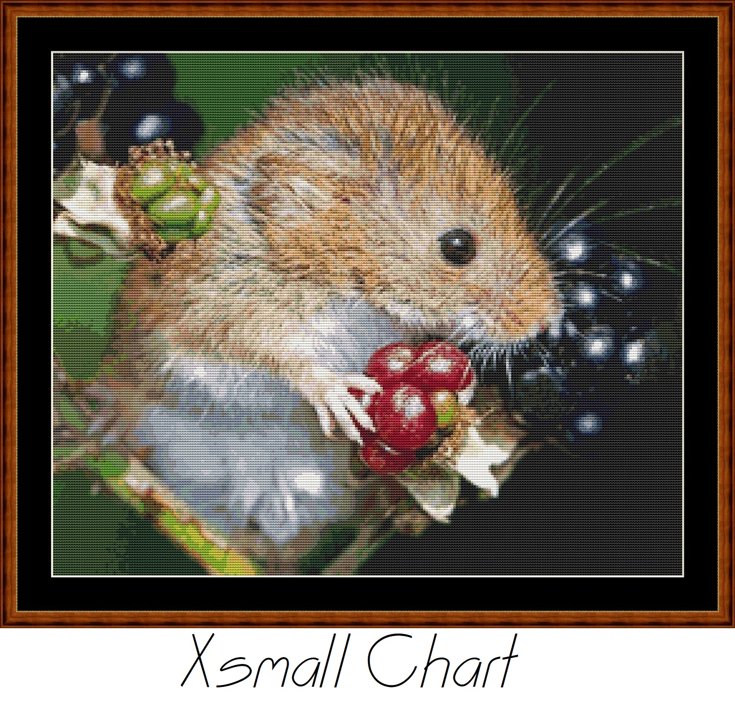 Harvest Mouse Cross Stitch