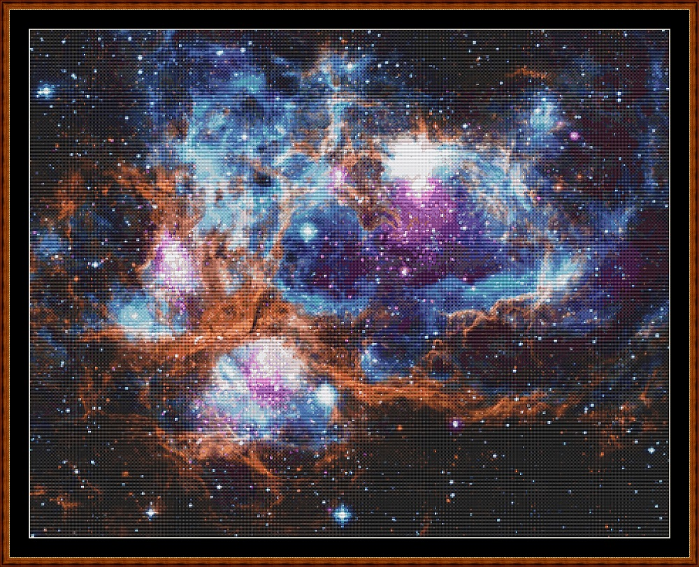 Lobster Nebula Cross Stitch