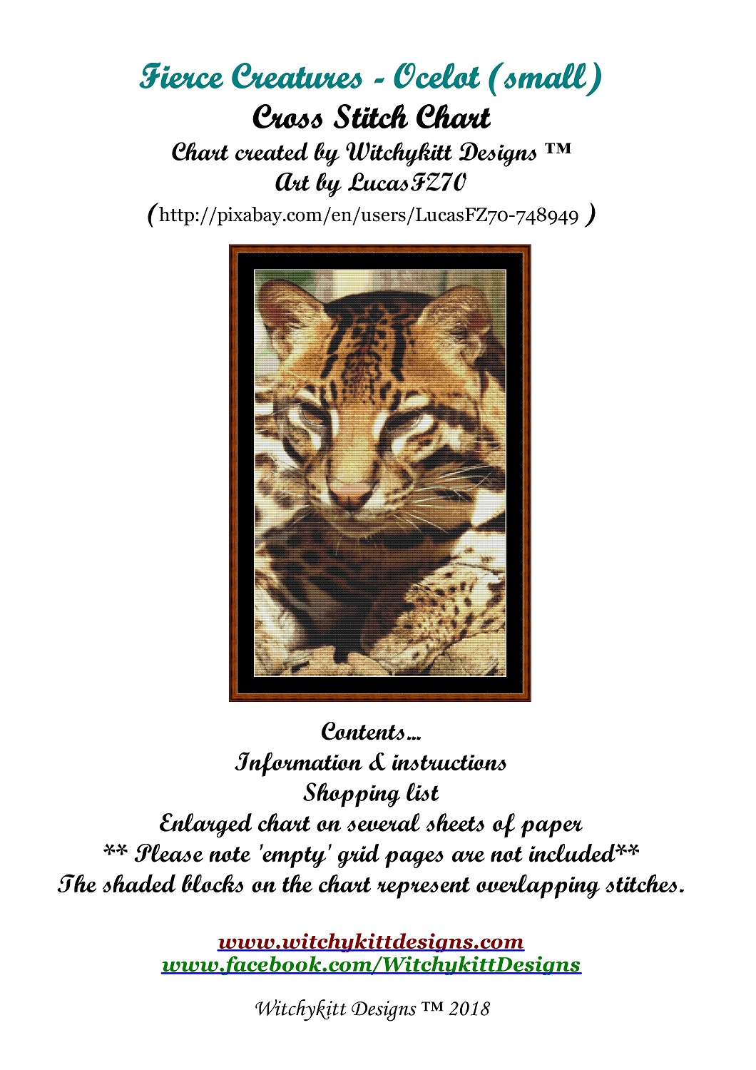 Fierce Creatures - Ocelot Cross Stitch