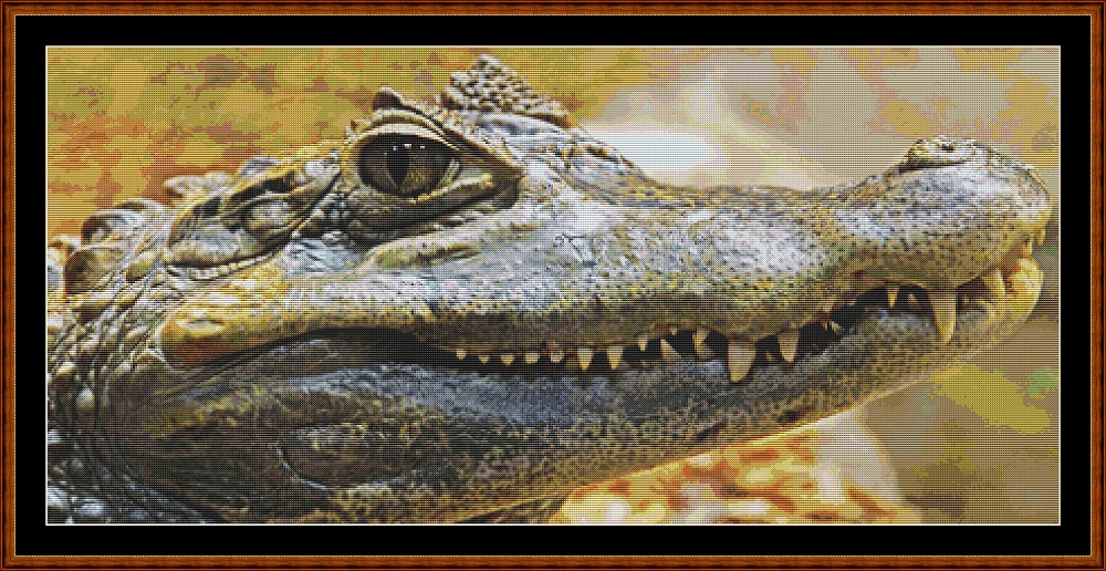 Fierce Creatures - Alligator Cross Stitch - Click Image to Close