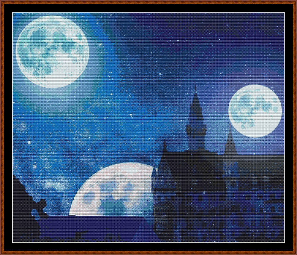 Moons Rise Cross Stitch