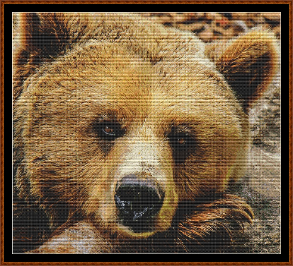 Fierce Creatures - Grizzly Cross Stitch