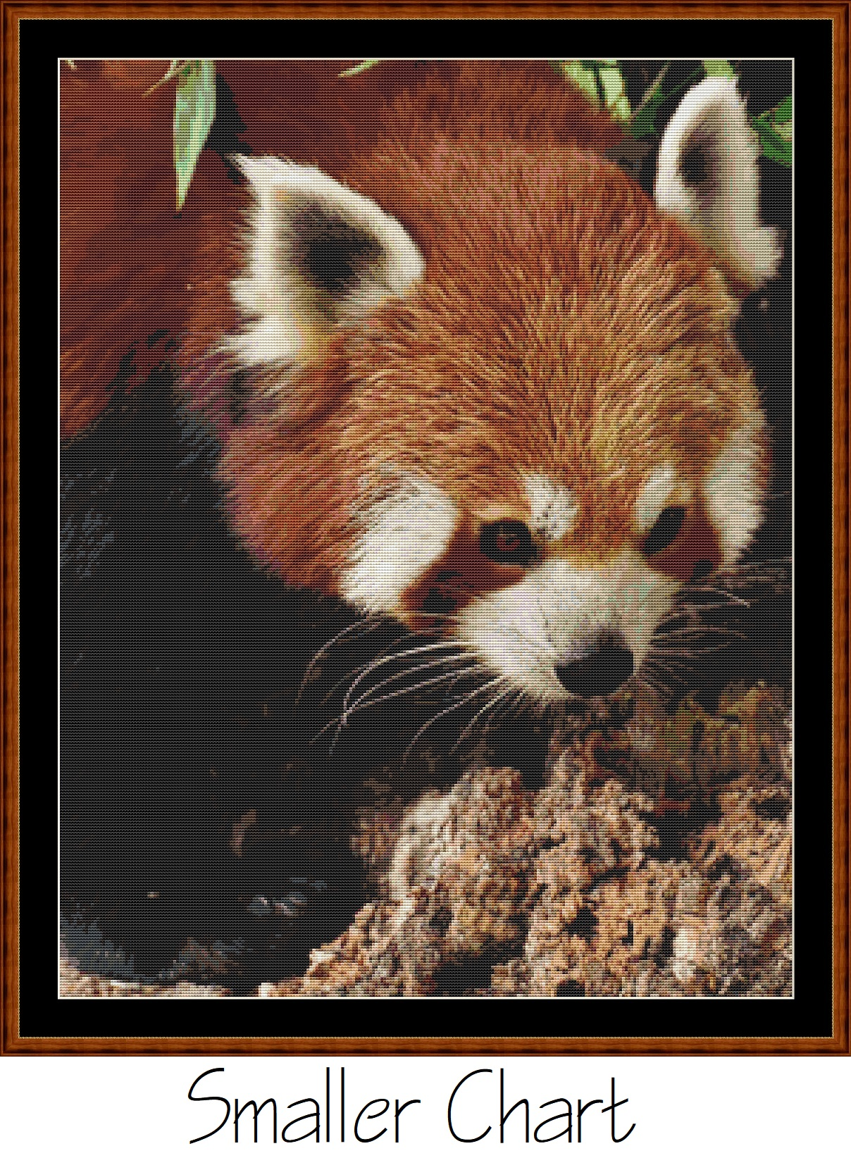 Fierce Creatures - Red Panda Cross Stitch