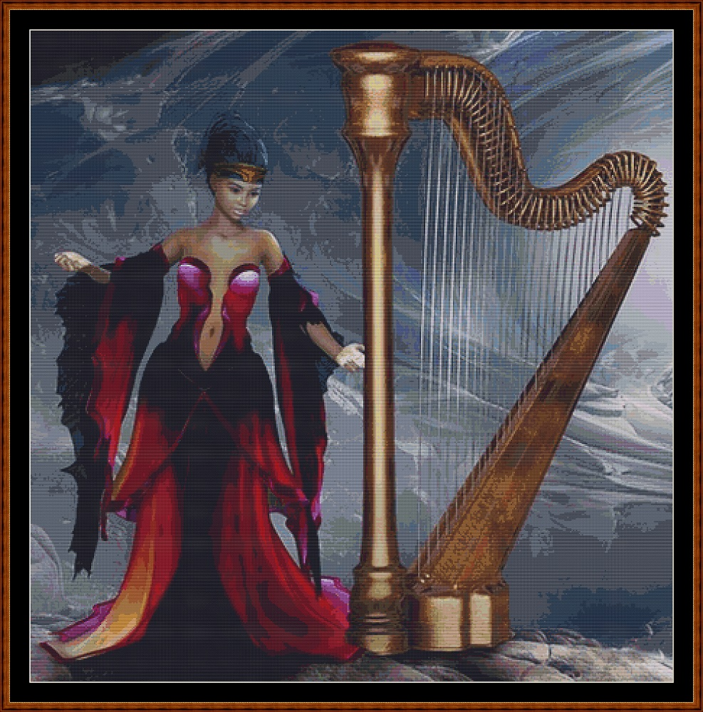 Harp Cross Stitch
