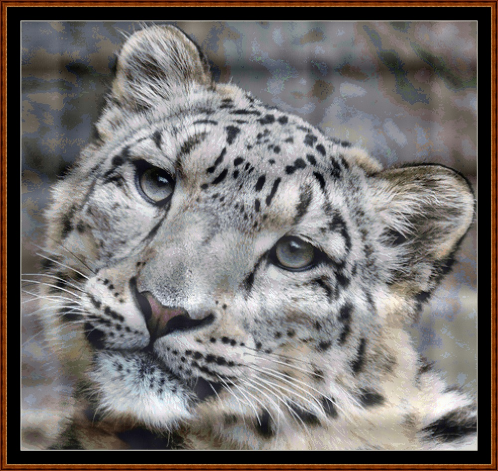 Fierce Creatures - Snow Leopard Cross Stitch