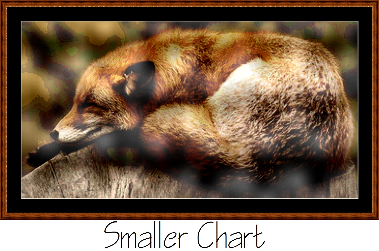 Sleepy Fox Cross Stitch